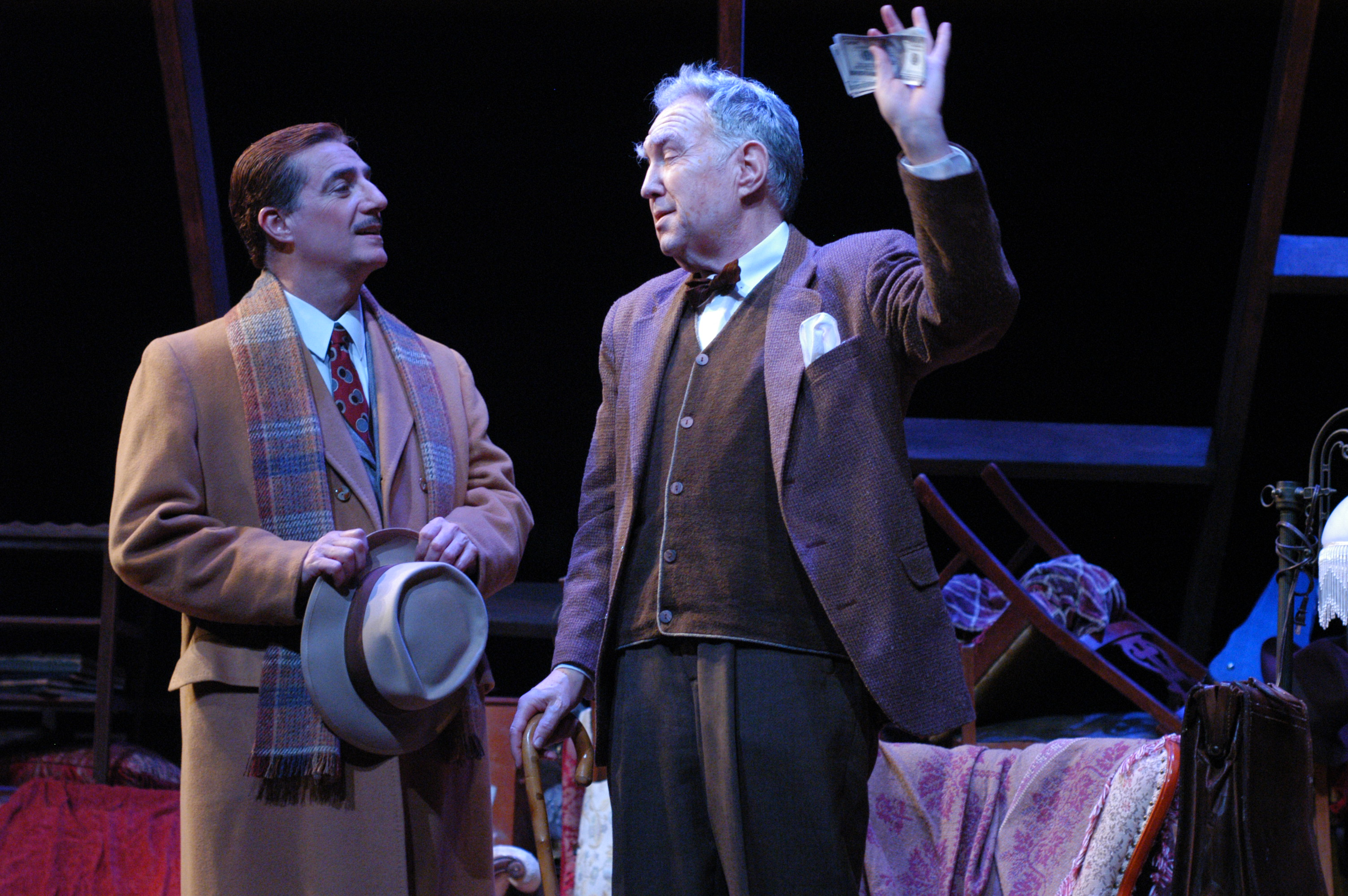 "Tony Hodges and Benjamin Stewart in ""The Price"" for Arizona Theatre Company. (Photo by Mark Gluckman; lent to the website by Janet Arnold)"
