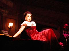 "Natalie Charle Ellis in ""My Way"" at Phoenix Theatre. (Photo by Laura Durant)"