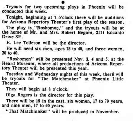 Arizona Republic, Sept. 18, 1960