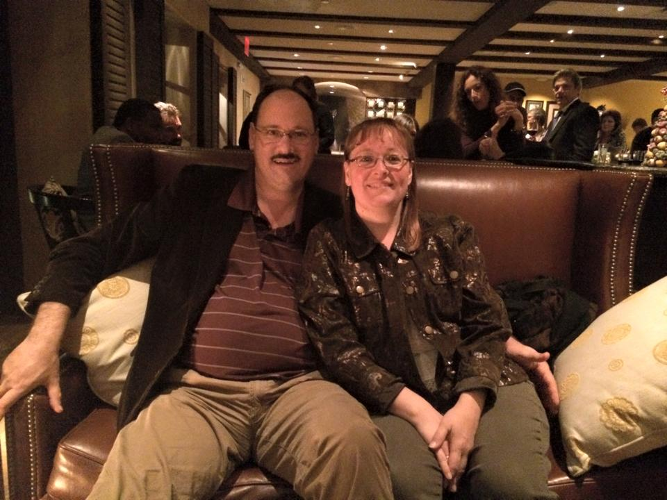 Paul Black and his wife, Erica McKibben Black, enjoy a night out at the Royal Palms Inn. (Photo borrowed from Erica's Facebook page)