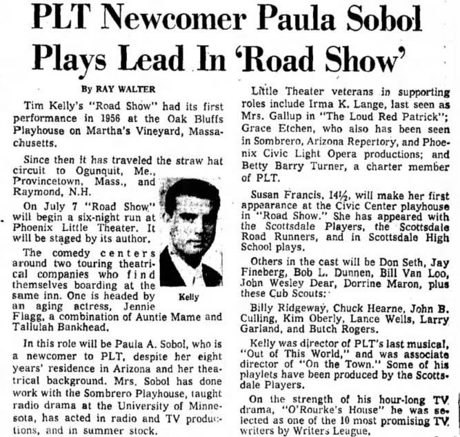 phoenix theatre 1959 road show 00`