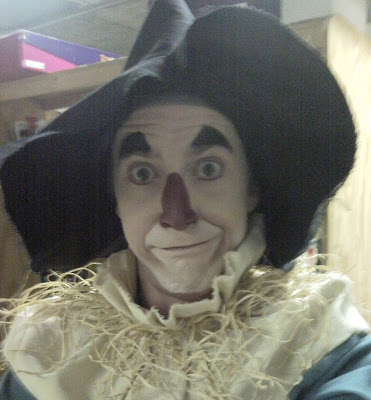 "Tyler Eglen as the Scarecrow in ""Dorothy Returns,"" 2010, Children's Museum of Indianapolis."