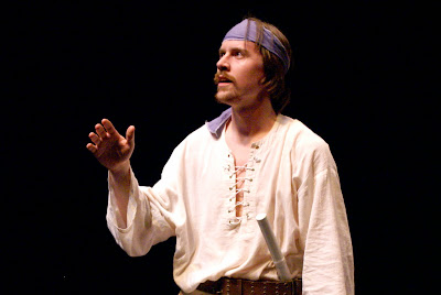 "Tyler Eglen in ""The Odyssey,"" an adaptation from the work of Homer."