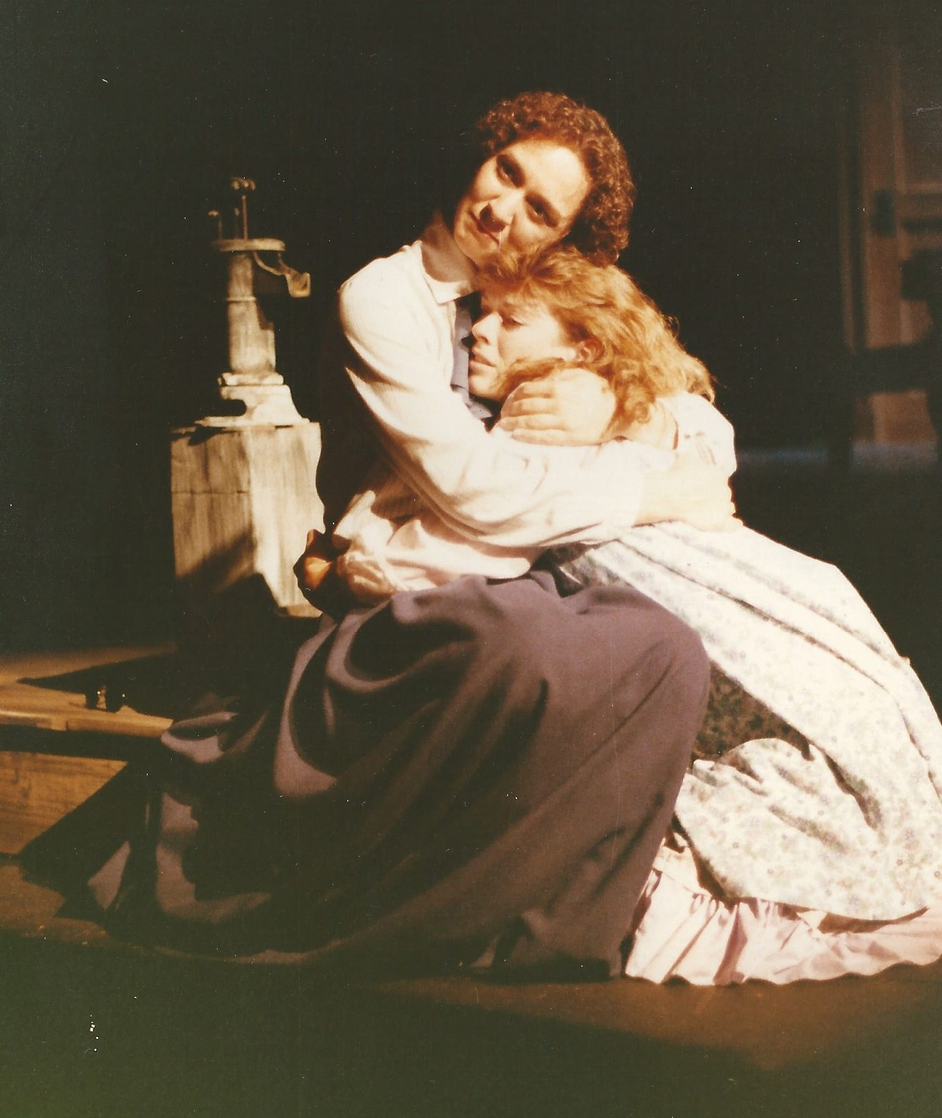 "Suze St. John and Debra K. Stevens in ""The Miracle Worker."" (Photo credit unknown)"