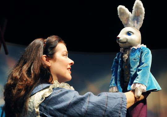 Debra K. Stevens in Childsplay's 'The Velveteen Rabbit.' (Photo by Tim Trumble)