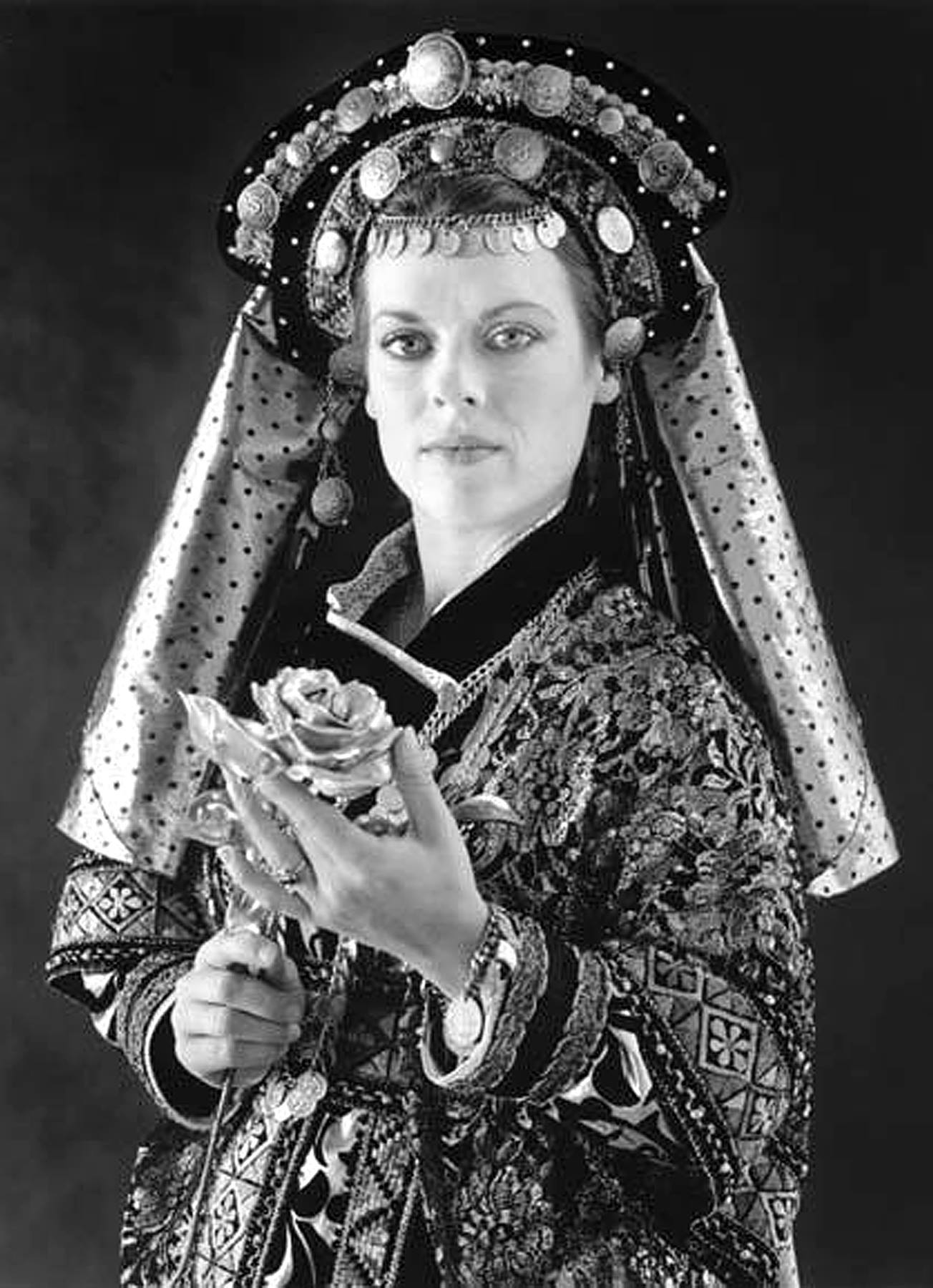 "This photograph of Debra K. Stevens in the 1987 production of ""Beauty and the Beast"" at Childsplay was submitted by costume designer Rebecca Ragan Adkins. She called Debra ""simply stunning."" The same must be said of the costume design - and the photograph."