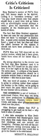 letter to editor march 11, 1970