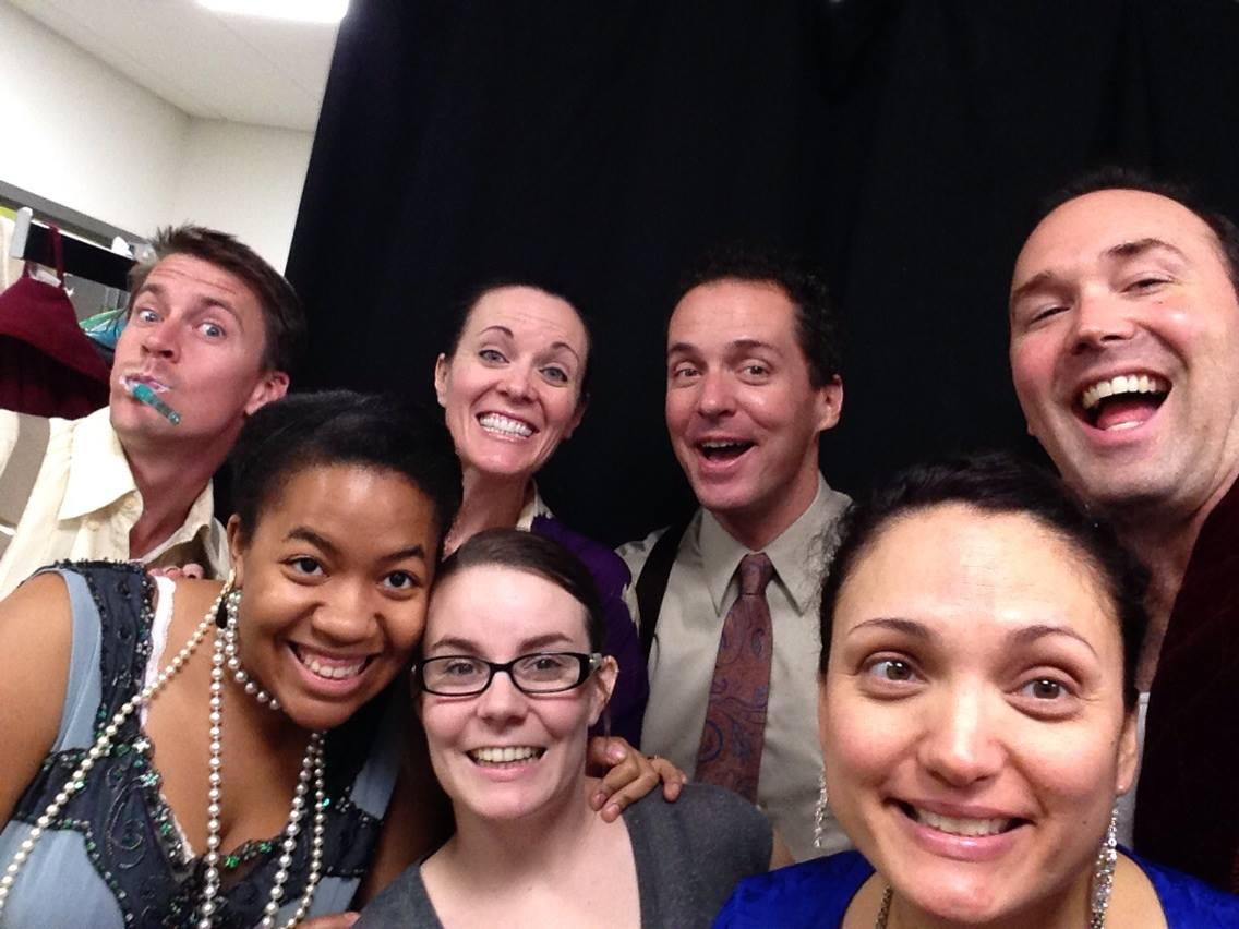 Backstage with Tyler Eglen, Alexis Aisha Green, Ian Christiansen, Angelica Howland and Joseph Kremer. (Photo courtesy of Maren Maclean)