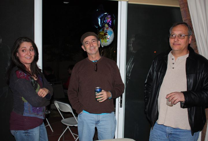 Michael Grady's Surprise 50th Birthday Party. Maria Amorocho Weisbrod, Jon Gentry and Jere Luisi. (Photo by Brenda Edwards)
