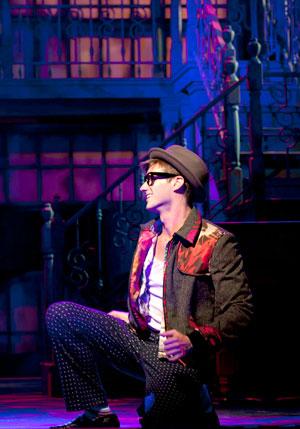 "CJ Pawlikowski. 2014. Phoenix Theatre. Disc jockey Huey Calhoun in ""Memphis."""