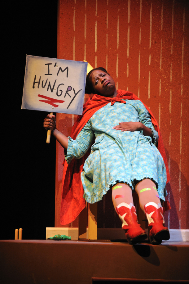 Childsplay, 2011, Lily's Purple Plastic Purse. Yolanda London as Lily. (Photo by Tim Trumble)