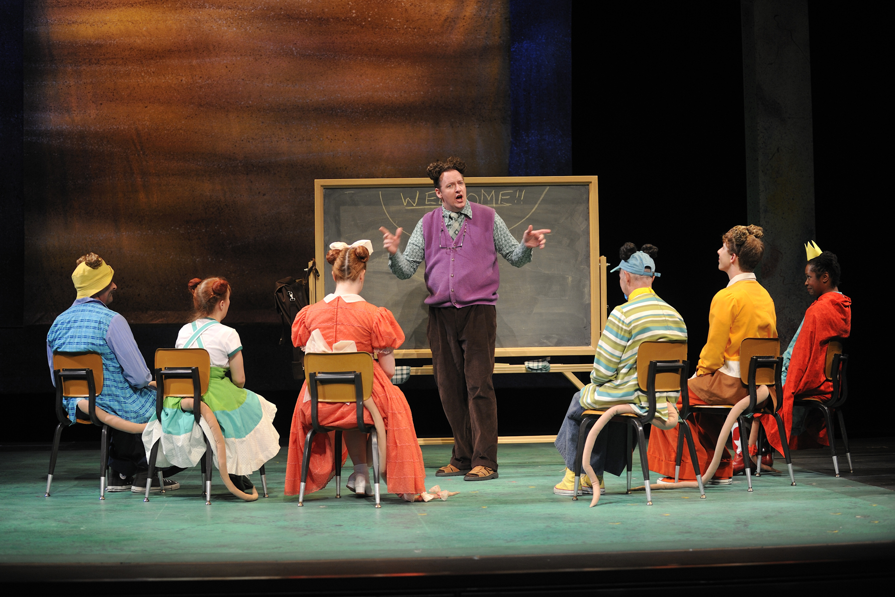 Childsplay, 2011, Lily's Purple Plastic Purse. D. Scott Withers (center) as Lilly's teacher, Mr. Singer