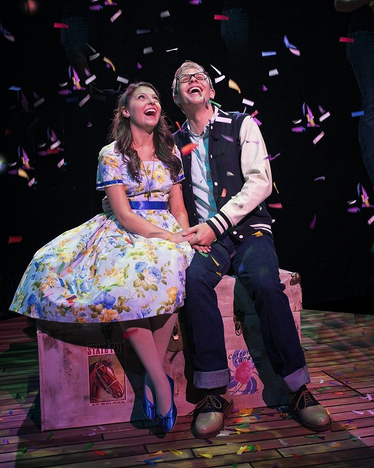 Cooper Hallstrom and Cecilia Iole as the young lovers in 'The Fantasticks!' (Photo by Chris Okawa)