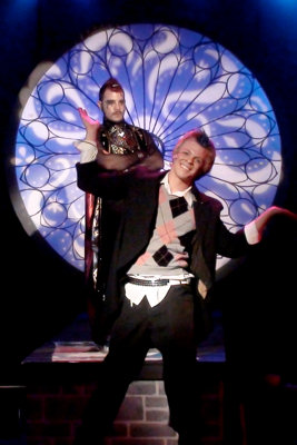 Cooper Hallstrom in 'Pippin' at Greasepaint Youtheatre. (Photo credit unknown)