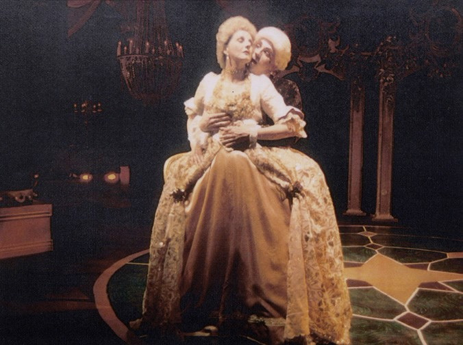 "Laura Durant and Terry Gadaire in ""Les Liaisons Dangereuses"" at Stagebrush Theatre."