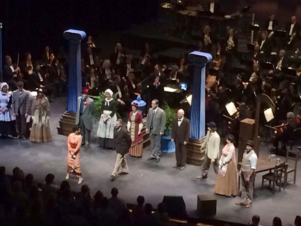 Phoenix Theatre, Phoenix Symphony. My Fair Lady. 2014. Terry Gadaire as Prof. Henry Higgins. (Photo by Sue Sisley)