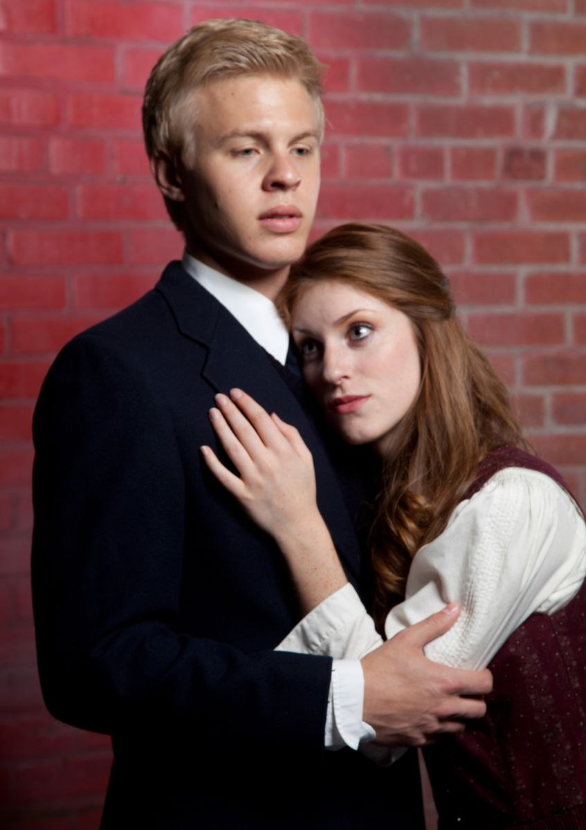 "Cooper Hallstrom and Katrin Murdock in the Phoenix Theatre/Nearly Naked Theatre co-production of ""Spring Awakening."""