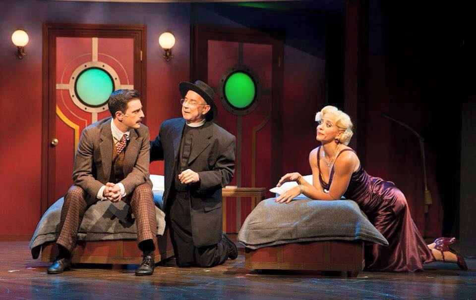 "Jonathan Hoover, Jon Gentry and Lynzee Paul Foreman in ""Anything Goes"" at Phoenix Theatre, 2015. (Photo credit unknown)"