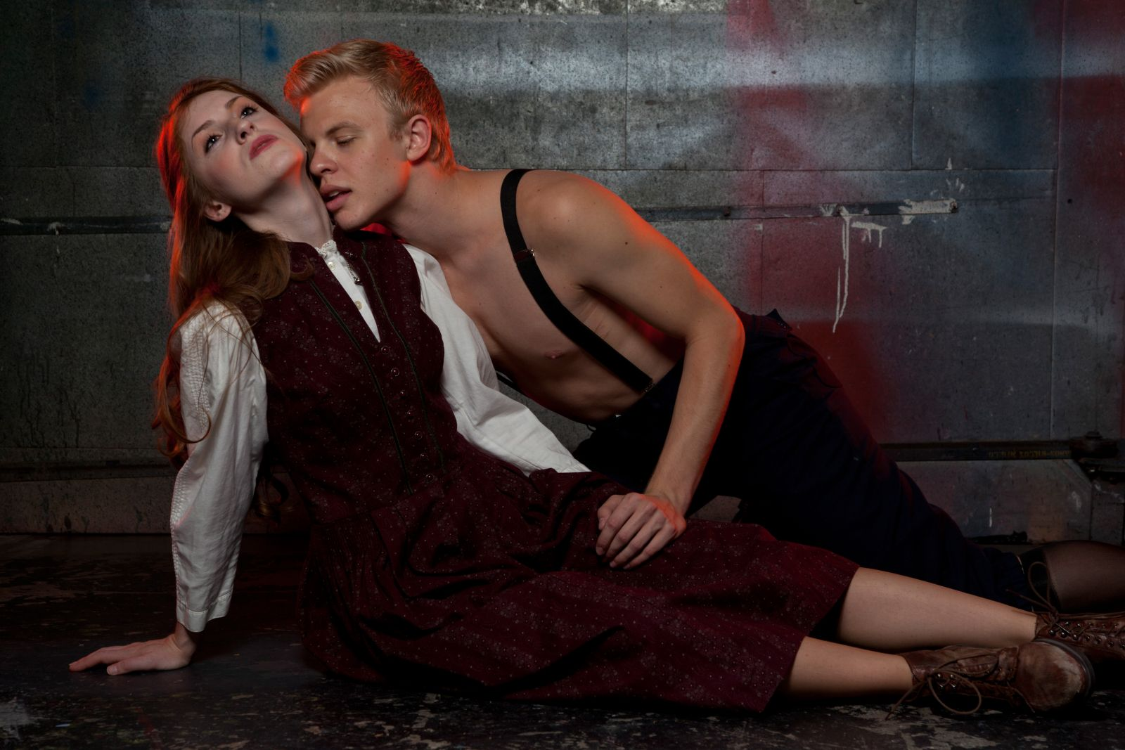 Cooper Hallstrom, 2012, Spring Awakening, Nearly Naked Theatre Co. With Katrin Murdock. (Photo by Jerry O'Connor)