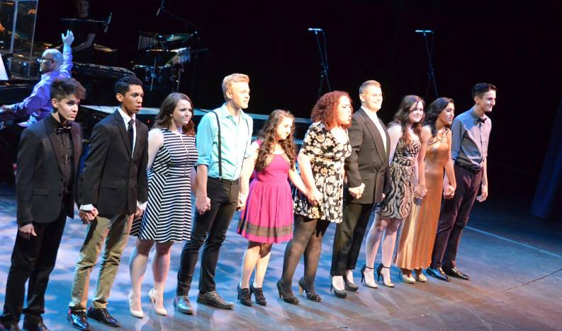 Valley Youth Theatre Alumni Concert. Ian White, John Batchan, Megan Molloy, Cooper Hallstrom, Jamie Dillon Grossman, Rhetta Mykeal, Taylor Wetnight, Kimberly Carson and Bransen Gates. (Photo credit unknown)