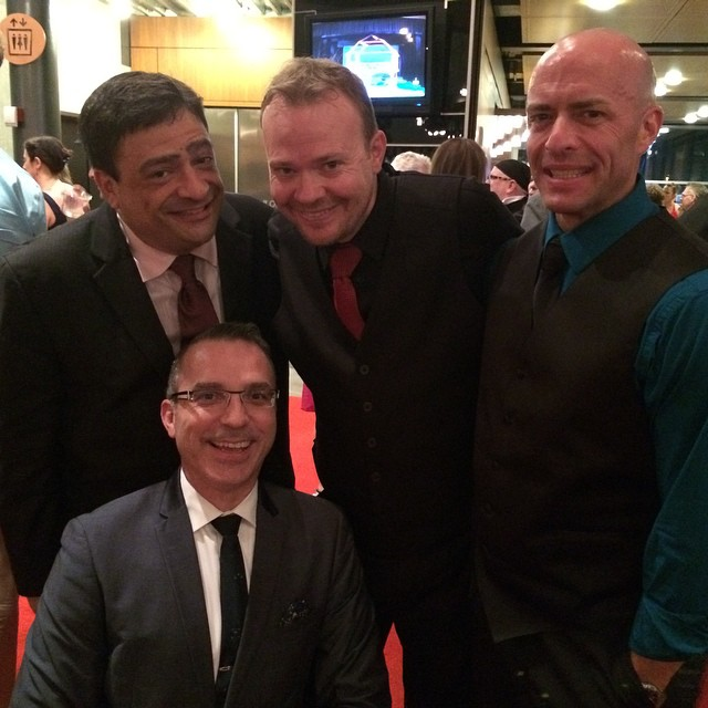 ariZoni Awards. 2014. 'The Producers' reunion. Scott Hyder, Terry Gadaire, Matt McDonald, Michael C. Stewart (Photo from McDonald's Facebook page)