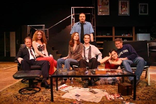 Nearly Naked Theatre Company. Hurlyburly. By David Rabe. Directed by April Miller. Scott Dillon, Terri Lee Soviero, Kerry McCue, Christian Miller, Stephen J. Scally, Rory Vandermark, Sandy Elias. Photo credit not supplied.