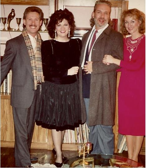 All dressed up for a party: Michael Barnard, Robyn Ferracane, Jerry Wayne Harkey & Linda DeArmond.