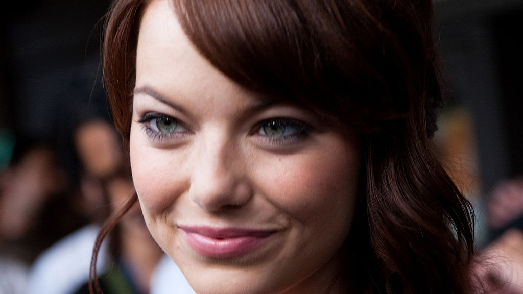 "Emma Stone appears at the premiere of the 2009 movie ""Zombieland."" 