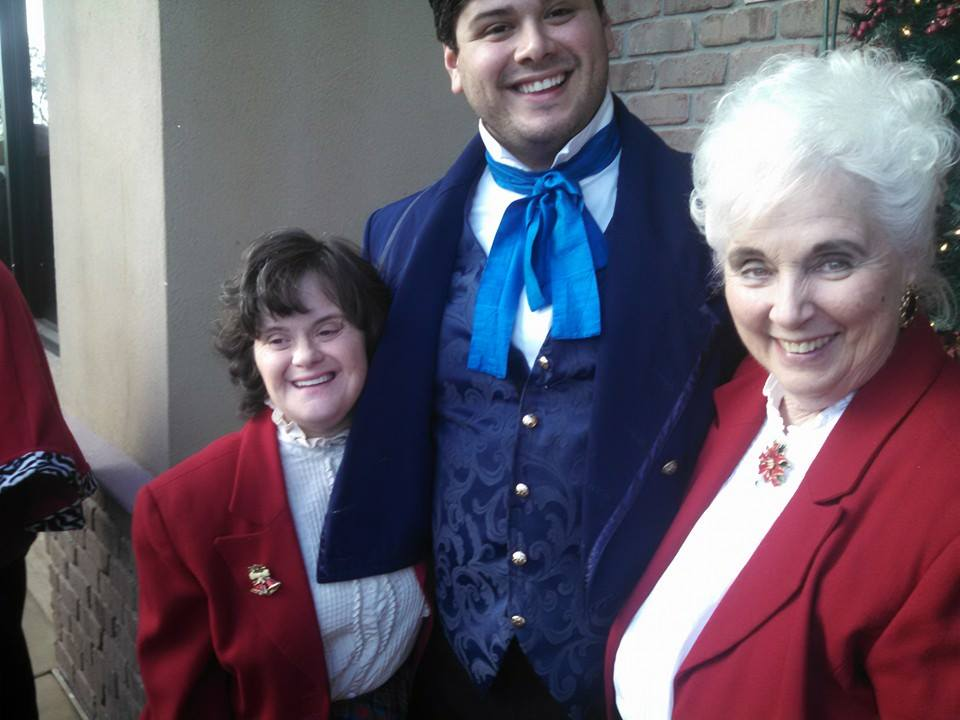 Julian-Sebastian Pena, with Paula Gray, right. (Photo from Paula's Facebook page)