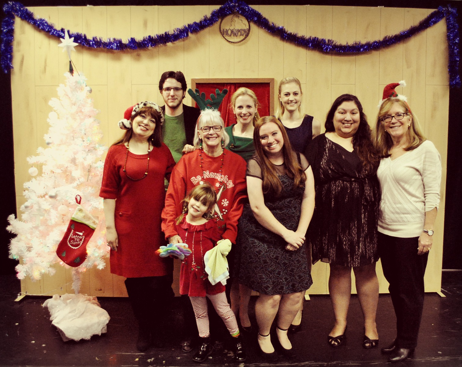 Celebrating Christmas 2014 with Lizz Reeves Fidler, Peyton Scott Geery, Barbara Walker McBain, Sarah Rodgers, Christina Nicole Epp, Christina Epps, Star Parra and Debra Jo Davey. (Photo by Brenda Jean Foley)