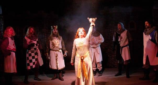 Fountain Hills Theatre. 2013-2014. Spamalot. Lizz Reeves Fidler with Miles Brindley, Michael C. Stewart, Terry Gadaire, Chad Campbell, Paul Pedersen. Photo credit unknown.