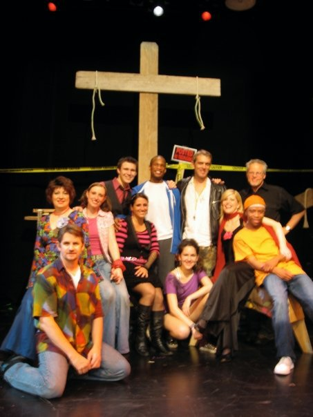 Peggy - Godspell (2009) — with Chris Fidler, Meredith Sontag, Tina Khalil, Michelle Chin, Stefan Linder, Diane Nieman Senffner, Mitchell Vantrease and Mickey Bryce at Mesa Encore Theatre. Photo credit unknown.