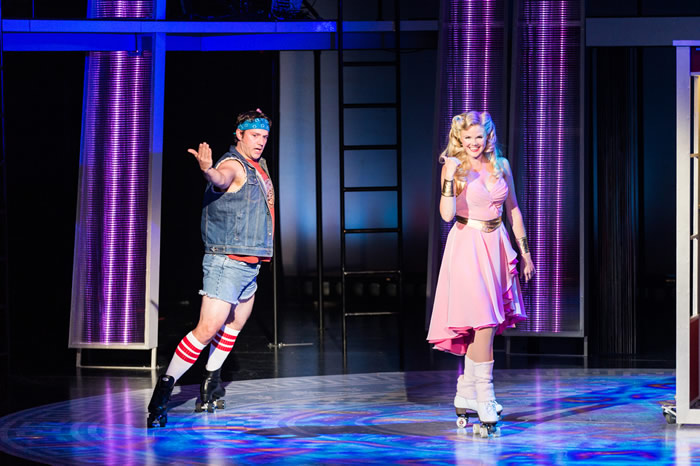 Arizona Theatre Company. 2014. Xanadu. Dane Stokinger and Jessica Skerritt. Photographer not credited.