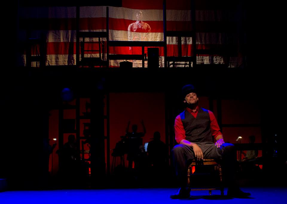 "Miguel Jackson is front and center - well, actually, stage left and center, in Phillip Fazio's 2013 production of ""Ragtime"" for Theater Works. Photographer not credited; photo courtesy of www.phillipfazio.com"
