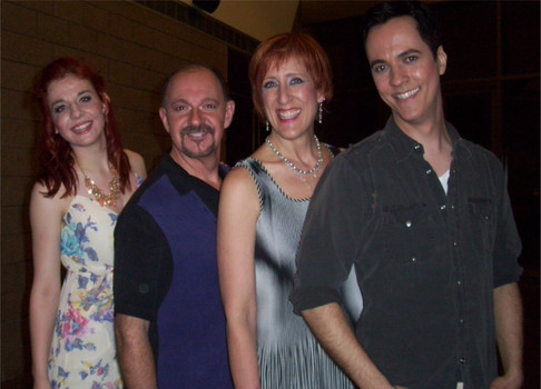 Camille Gribbons, Steve Hilderbrand, Sally Jo Bannow and Brian E. Sweis opening night of 'The Musical of Musicals (The Musical!)' (Doris Nehrbass)