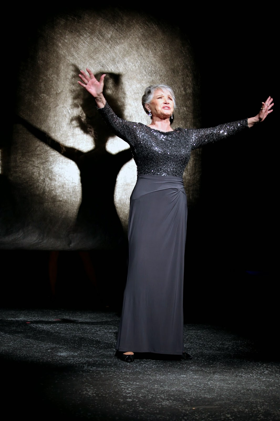 "Patti Davis Suarez in ""Follies,'' Theater Works, 2015. Photo by Wade Moran."