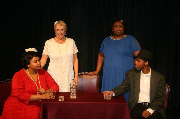 Tyra Young, Lawannah Curry, Larissa Brewington and Matravius Avent in 'Harlem Ren.'
