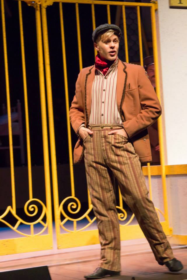 "Cooper Hallstrom in ""Mary Poppins the Musical"" at Phoenix First Assembly. (Photo Credit Unknown)"