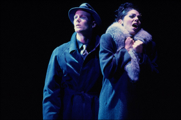 "Sara Ramirez and Patrick Wilson in ""The Gershwins' Fascinating Rhythm."""